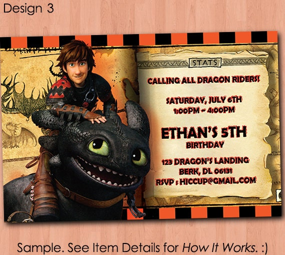 How To Train Your Dragon Birthday Invitation Printable