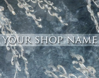 Basic Personalised Etsy Shop Banner Set (Pre-made) - Crystals
