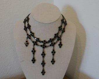 Beautiful Black Glass Necklace