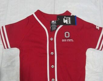 Vintage Starter College Football NCAA Baseball Jersey (Size : 3T)