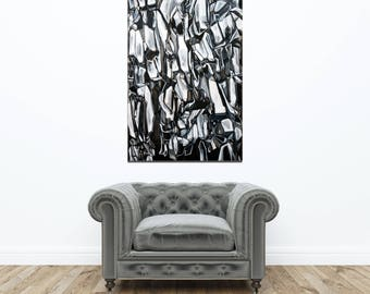 LARGE GICLÉE print, Abstract Rock Print, Modern Art Print, Abstract Nature, Modern Art Print, Black and White Print