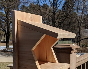 Cedar Nesting Shelf for American Robin, Barn Swallow, Eastern and Say's Phoebes, Natural