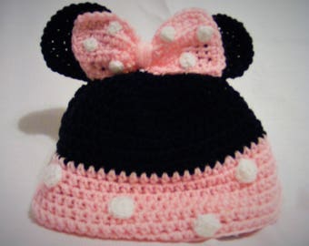 Mid Elementary to Adult Minnie Mouse Hat