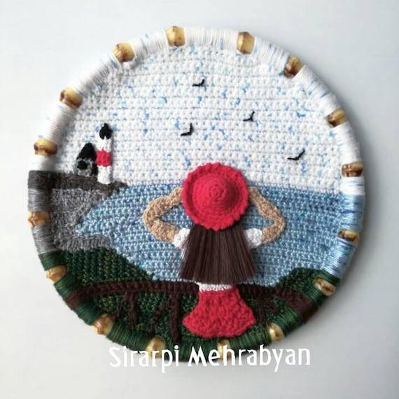 Crochet Wall Hanging Crochet Wall Art Crochet Picture Wall