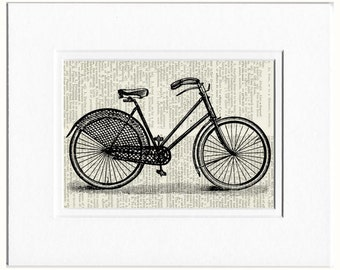 bike V dictionary page print