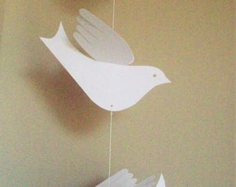 Paper Birds--Beautiful 12-bird Vertical Hanging