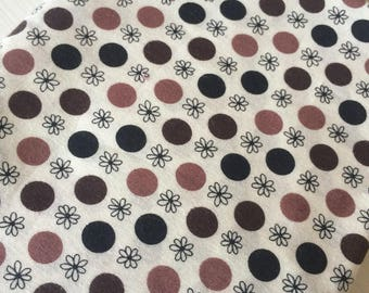 Flea Market Fancy Polka Dots  by Denise Schmidt Brown Quilt Fabric Fat Quarter Quilt Fabric Sewing Fabric Retro Fabric