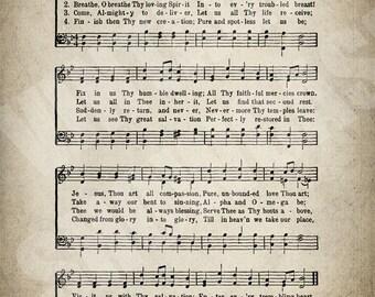 Love Divine All Loves Excelling Hymn Print - Sheet Music Art - Hymn Art - Hymnal Sheet - Home Decor - Music Sheet - Print - #HYMN-P-050