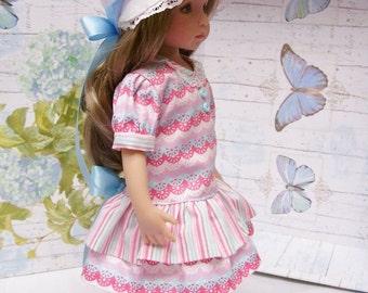 """PDF 13"""" Effner Little Darling Pattern, Drop Waist Dress and Bonnet"""