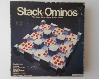 Vintage Stack Ominos 3D Domino Game Pressman 1978 #4426