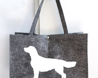 Felt bag Golden retriever silhouette