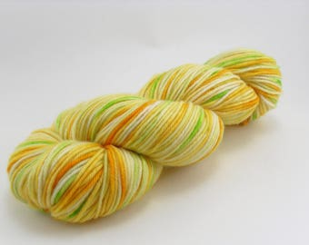 Hand Dyed Yarn Splash of Lime MCN DK handdyed hand-dyed