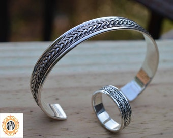 Celtic bangle for men,Nordic infinity knot bracelet,Viking bangle,Viking bracelet, Celtic bracelet,Celtic Cuff,Braided cuff bangle.