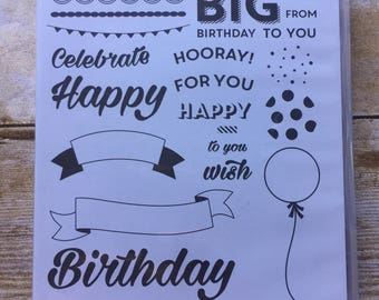 Birthday Brights photopolymer stamp set from Stampin'Up!