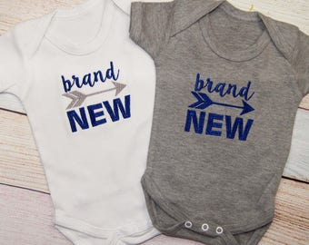 Brand New Baby Boys Bodysuit with Arrow - New Born Baby Boy - Coming Home Outfit - New Born Outfit - New Born Baby Gift - Baby Shower Gift
