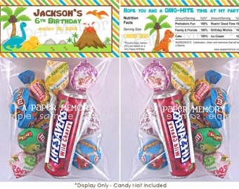 Dinosaurs Goody Bag Topper DIY Printable