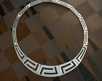 Sterling Egyptian Collar Necklace