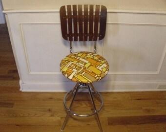 ON SALE  Vintage  1960's  Umanoff Style Stool