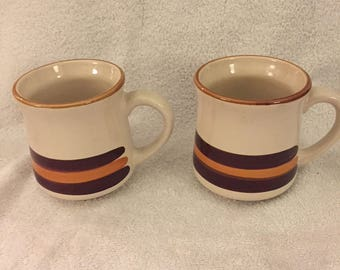 Set of 2 vintage mugs made by Stonecrest in Korea