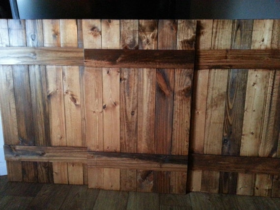 Rustic Wood King Headboard Shutter Set - Decorative Headboard Shutters - Interior Shutters - Wide Shutters - Wooden Headboard - Farmhouse