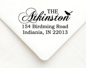 Personalized Self Inking Return Address Stamp - self inking address stamp - Custom Rubber Stamp A50