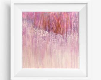 Pink Abstract Printable Art - Square Abstract Art Print - Abstract Landscape Painting Print - Minimalist Abstract Painting - 8x8 10x10