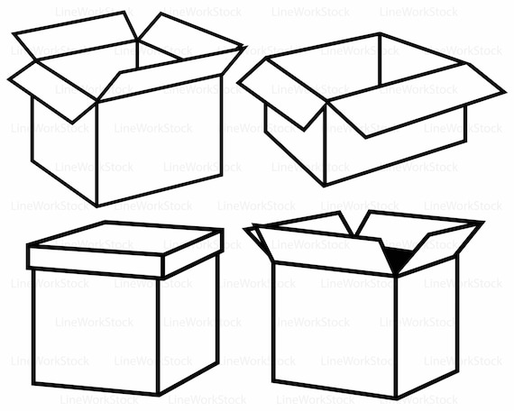 cardboard box svg cardboard box clipart box svg cardboard box rh etsystudio com box clipart png box clipart black and white