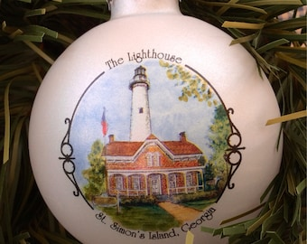 St. Simons, Georgia Lighthouse Ornament