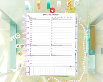 DAILY PLANNER Printable Letter Size Day Planner Printable Inserts PDF Big Happy Planner and To Do list Daily agenda Instant Download