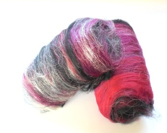 VAMPIRE BATTS, Art Batts to Spin, Felting Batts, Soft Fiber Batts, Merino Art Batts, BFL Art Batts, Squishy Art Batts, Luxury Art Batts