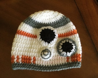 BB8 or R2D2 Adult/Child Crochet Beanie Hat