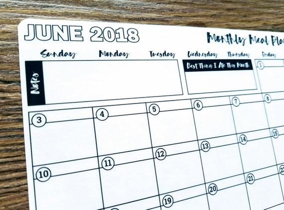 Aufkleber Juni 2018 Mahlzeit-Planung Bullet Journal