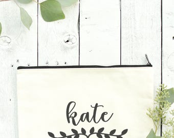 Personalized Bridesmaid Tote - Bachelorette Party Pouch - Wedding Party Clutch - Custom Gift Bag - 02