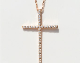 Cross, Cross Jewelry, Cross Gifts, Cross Necklace, Cross Charm, Rose Gold Cross, Cross For Women • Absolutely Gorgeous and Priced to Grab