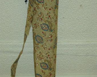 Cotton printed and embroidery Yoga Bag