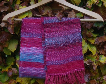 Pink and Red Multi Coloured Scarf