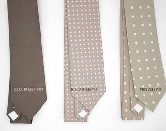 polka dot,warm taupe,mauve brown pattern neck-tie,light dark taupe brown color,taupe wedding,accessory groom, groomsmen,men,retro taupe ties