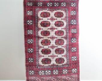 3x5.5 Vintage Bokhara Carpet