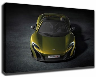 Amazing MCLAREN 675 LT Canvas/Poster Wall Art Pin Up HD Gallery Wrap Room Decor Home