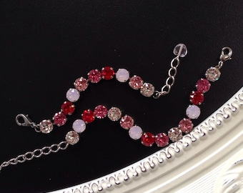 Mother and Daughter Swarovski Crystal Matching Bracelets