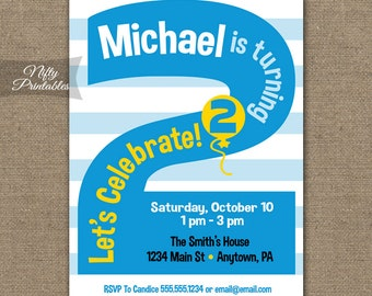 2nd birthday invitations printable second birthday 2nd birthday invitations printable second birthday invitation 2nd birthday party blue two year bookmarktalkfo Images
