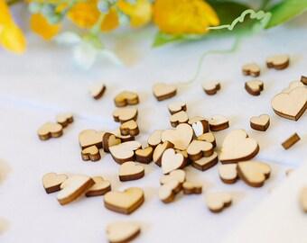 Wooden Hearts, Mini Mixed Heart,Scrapbook,Card Embellishments