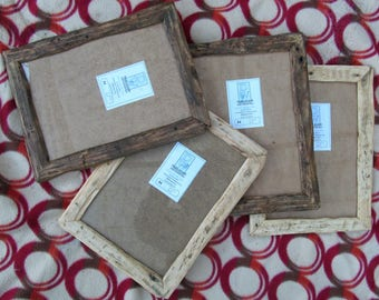Rustic/driftwood style frames in locally sourced,recycled, old timber.Medium dark or clear beeswax finish.To fit A4,Free U.K. shipping