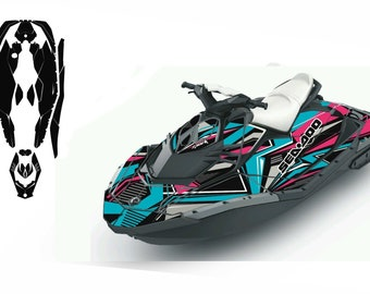 PWC Jetski graphics decals stickers kit for seadoo Spark Trixx 2UP 3UP
