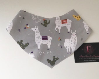 Llama dog bandana - llama dog tie up bandana - llama scarf - llama neckwear - fun bandanas - animal dog bandana