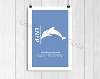 ENFP Minimalist Poster | Myers Briggs Poster | Personality Type Poster 11x17 | MBTI