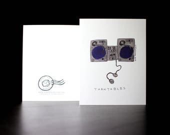 "5.5""x4"" Turntables (Ones and Twos) Greeting Cards"