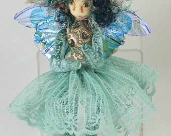 Art Doll-Sheena the Sprite OOAK Cloth Doll Faery
