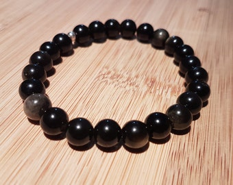 Defense - Golden Obsidian Bracelet