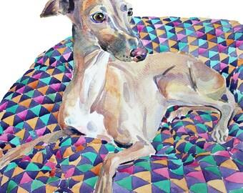 Pet Portrait, Custom Pet Portrait,  Original  Watercolor Painting, Dog Painting